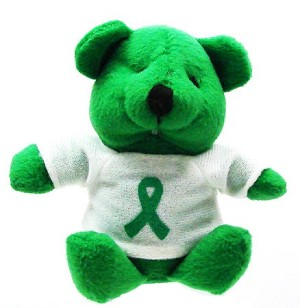 Green Ribbon Teddy Bear