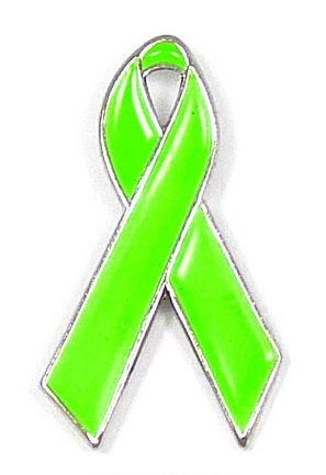 Lime Green Awareness Ribbon Pin