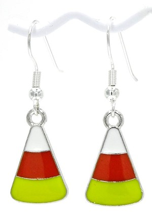 Candy Corn Charmer Earrings With Gift Box