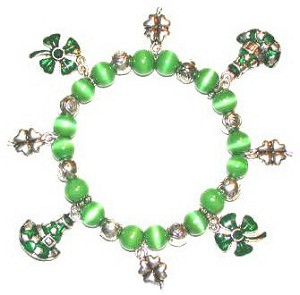 Four Leaf Clover Stretch Bracelet - SOLD