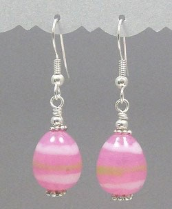 Pink Easter Egg Earrings