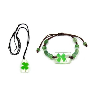 Real Four Leaf Clover Jewelry