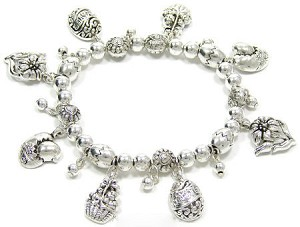 All Silver Easter Stretch Bracelet