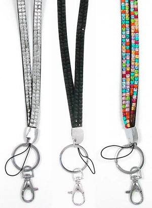Bling Lanyard With Free ID Holder Pick Your Color