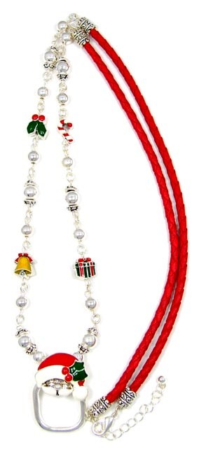 Braided Santa Lanyard