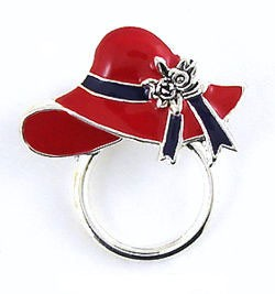 Red Hat Glasses or ID Badge Pin