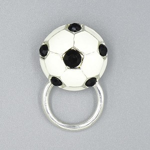 Soccer Ball Glasses or ID Badge Pin Holder