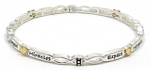 Expect Miracles Stackable Bracelet
