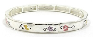 Flowers And Butterflies Stackable Bracelet