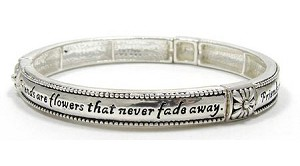 Friends Are Flowers That Never Fade Away Bracelet