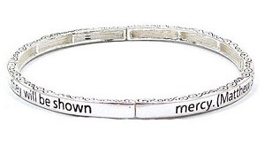 Stackable Matthew 5:7 Bracelet