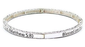 Stackable Matthew 5:8 Bracelet