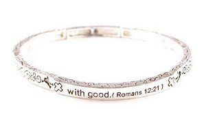 Thin Romans 12:21 Bracelet - SOLD