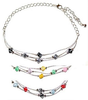 Dice Anklet Pick Your Colors