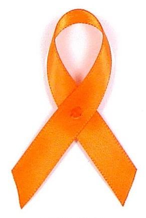 Orange Satin Awareness Ribbon Pins