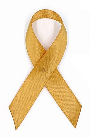 Amber Satin Awareness Ribbon Pin