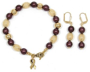 Oral Head And Neck Cancer Awareness Jewelry Set