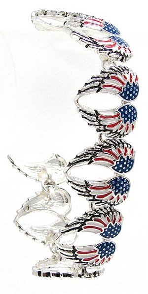 American Angel Wings Flag Bracelet