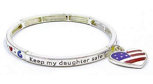 Stackable Keep My Daughter Safe Bracelet