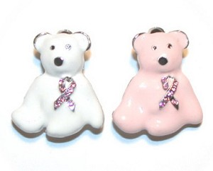 Pink Ribbon Teddy Bear Pin