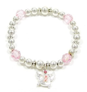 Pink Ribbon Angel Bracelet