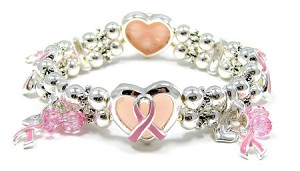 Pink Ribbon Double Stretch Cuff