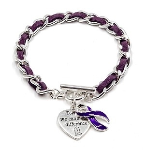Purple Make A Difference Bracelet