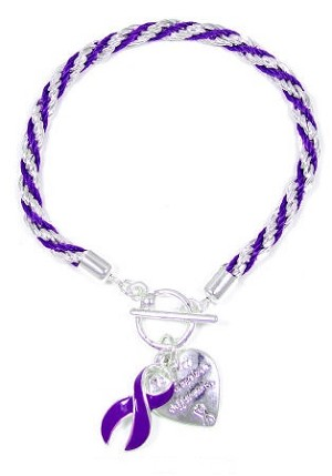 Purple Rope Make A Difference Bracelet