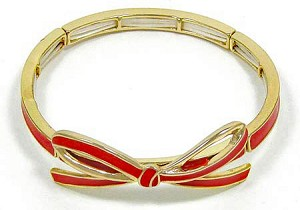 Red Ribbon Bow Bracelet