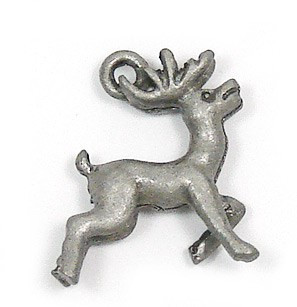 3D Reindeer Charm Antique Pewter