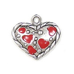 Multiple Hearts Charm