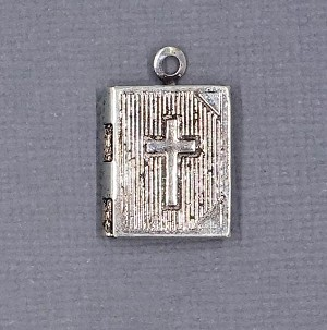 Antiqued Bible Locket Charm