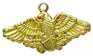 Eagle With Shield Charm Brass