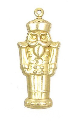 Nutcracker Charm Brass