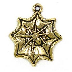 Spider Web Charm Gold