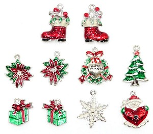 deluxe enamel christmas charms limited stock - Christmas Charms