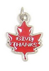 Give Thanks Leaf Charm