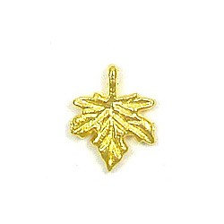 Maple Leaf Charm Gold Plated