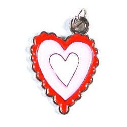 Scalloped Heart Charm