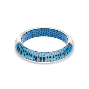 Blue Leopard Bangle By Splendette