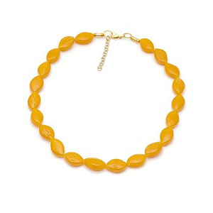 Golden Mustard Fakelite Necklace By Splendette