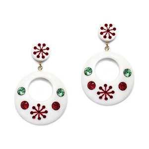 Lumi Atomic Snowflake Drop Earrings By Splendette