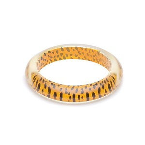 Yellow Leopard Bangle By Splendette