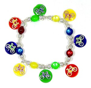 Colorful Bicycles Charm Bracelet