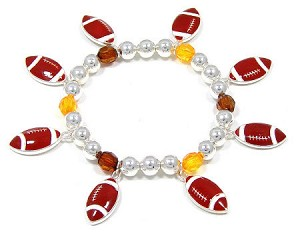 Awesome Football Charm Bracelet