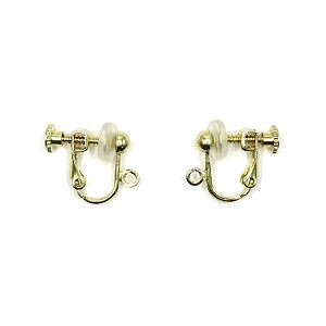 Gold Dangly Clip On Earring Converters With Adjustable Tension and Comfort Pad