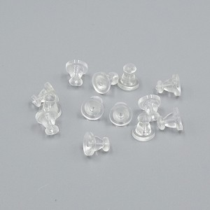 Clear Rubber Earring Backs Bell Shaped Earnuts