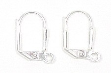 Leverback Earring Findings Silver Plated Pair