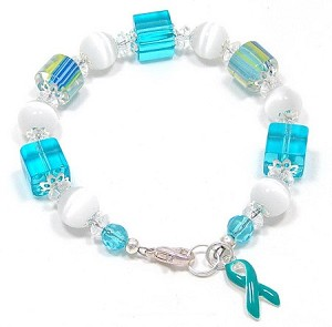 Beautiful Teal Furnace Glass Bracelet