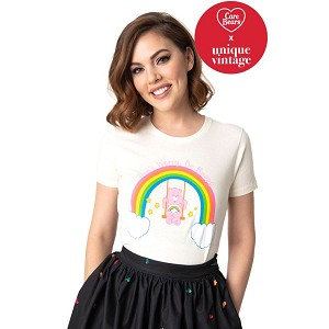 Care Bear X Unique Vintage Dont Worry Be Happy Womans Tee